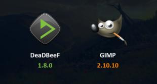 Actualizaciones de DeaDBeeF y GIMP