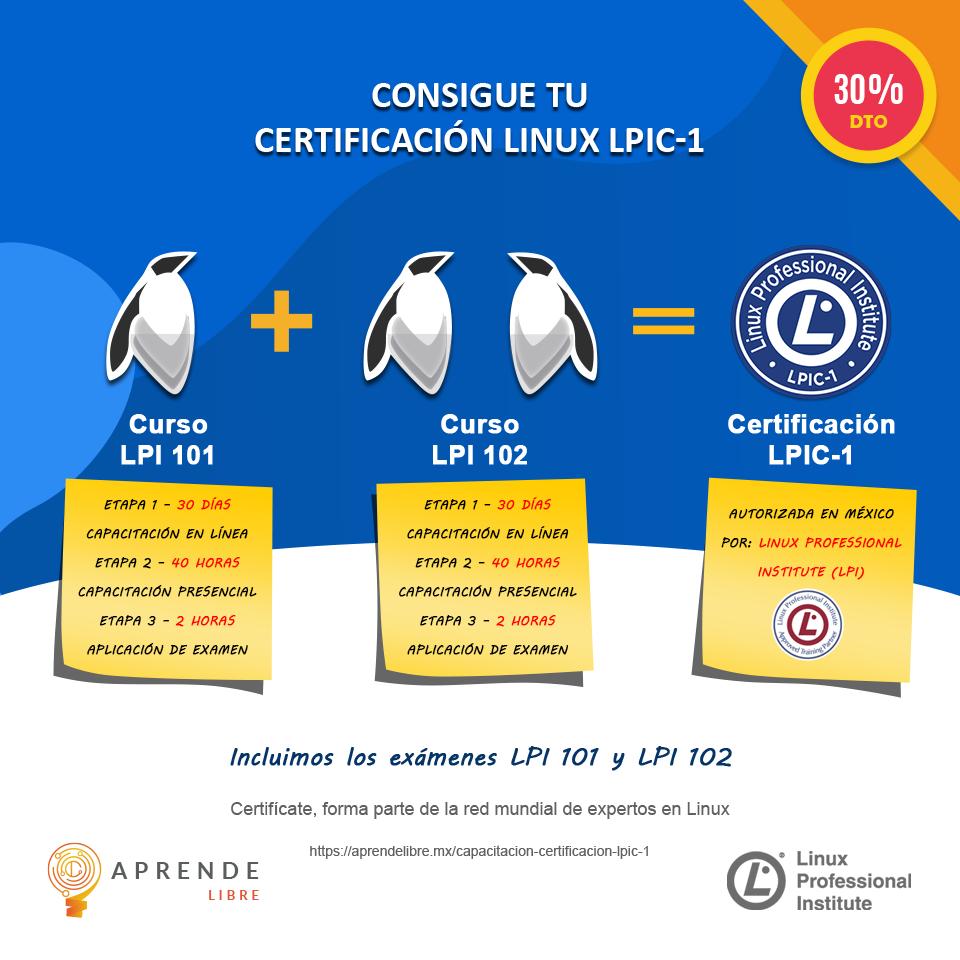 Curso administración Linux + Certificación LPIC-1 @ Conocimiento Libre Sas De CV